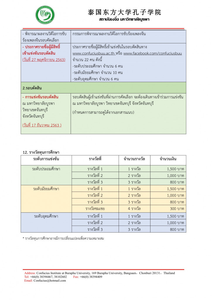 รายละเอียดการแข่งขันขับร้องเพลงภาษาจีน 2563 Page5