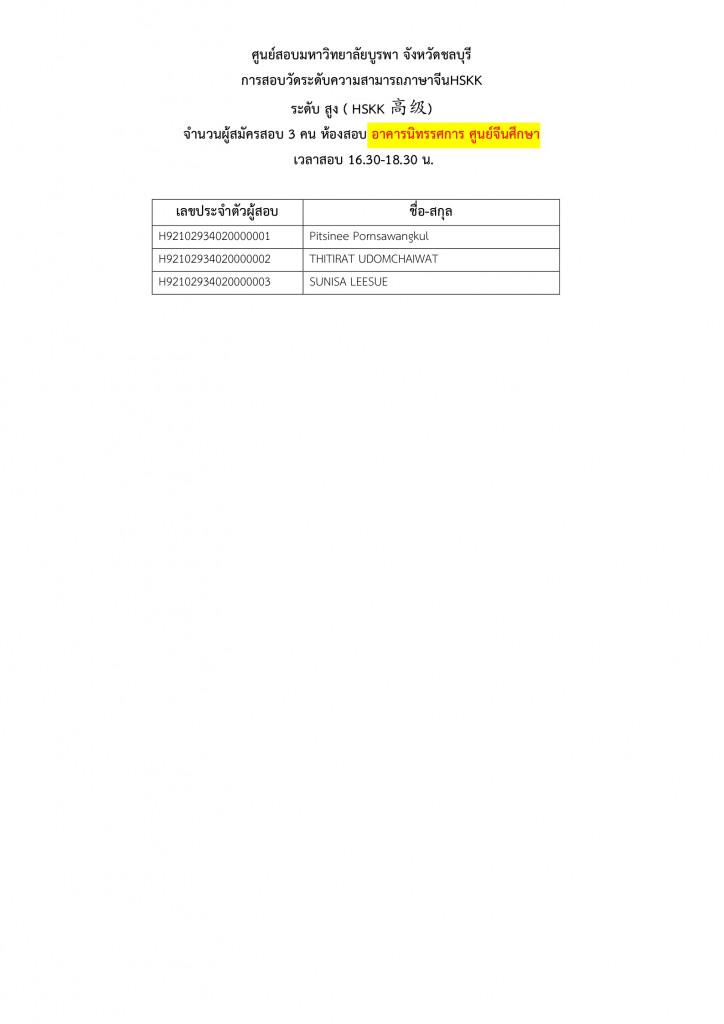 ประกาศรายชื่อผู้มีสิทธิ์HSKHSKK2021.12021.2 Page14
